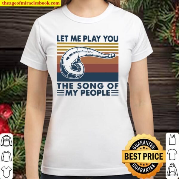Let Me Play You The Song Of My People Motocross Vintage Classic Women T-Shirt