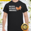 Multiple Sclerosis Awareness Butterfly Ribbon World MS Day Shirt