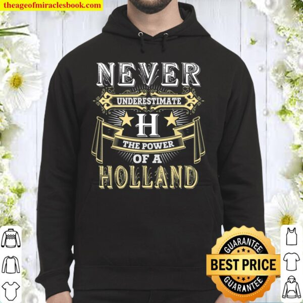 Never Underestimate Power Of HOLLAND Name Hoodie