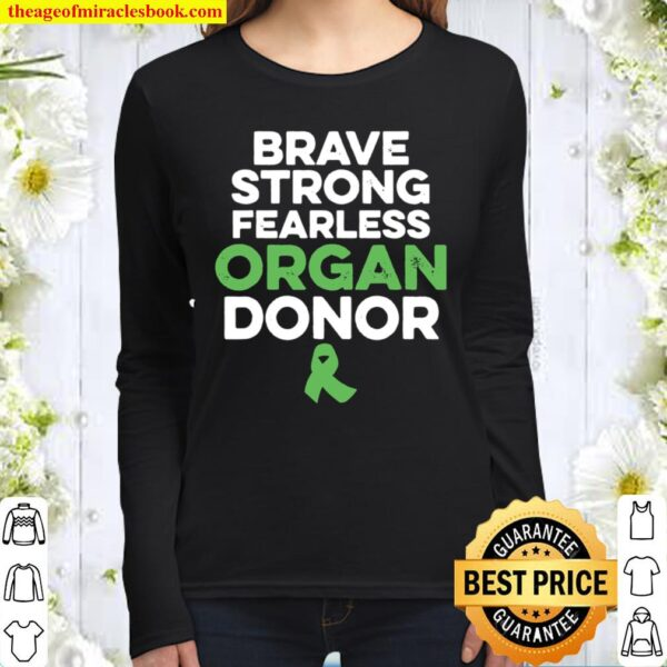 Organ Transplant Donor Strong Surgery Recovery Women Long Sleeved