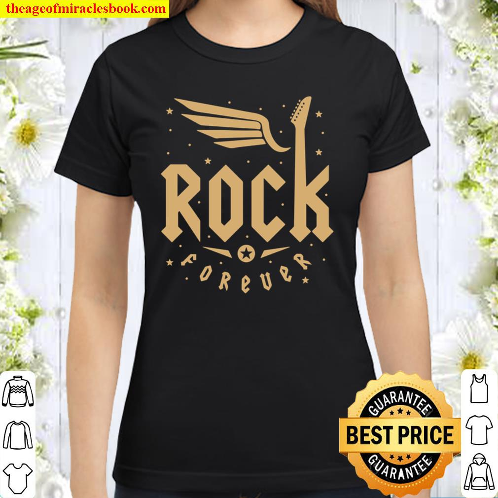 Rock and Roll Forever casual Classic Women T-Shirt