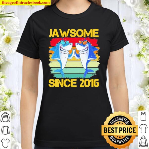 Shark jaw some since 2016 vintage Classic Women T-Shirt