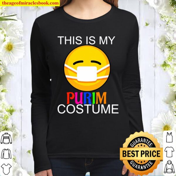 This Is My Purim Costume Funny Jewish Face Mask Women Long Sleeved