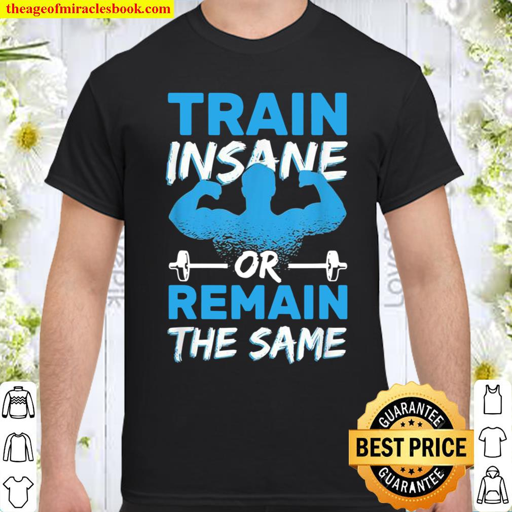 Train Insane Or Remain The Same Barbell Gym Workouts Shirt