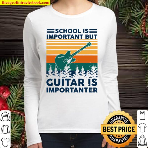 Tu School Is Important But Guitar Is Importanter Costume Women Long Sleeved