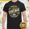 Vintage Living Legend Made In 1984 Classic 37th Birthday Shirt