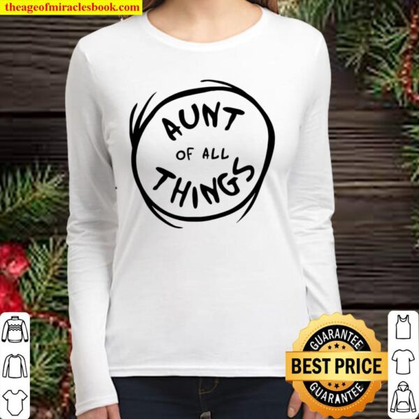 Womens Dr. Seuss Aunt Of All Things Emblem Color Option Women Long Sleeved