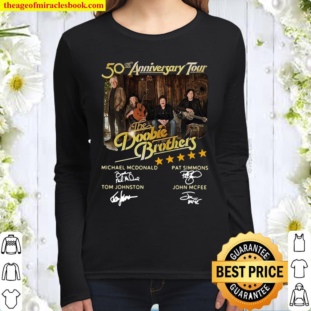 50th anniversary tour The Doobie Brothers signatures Women Long Sleeved