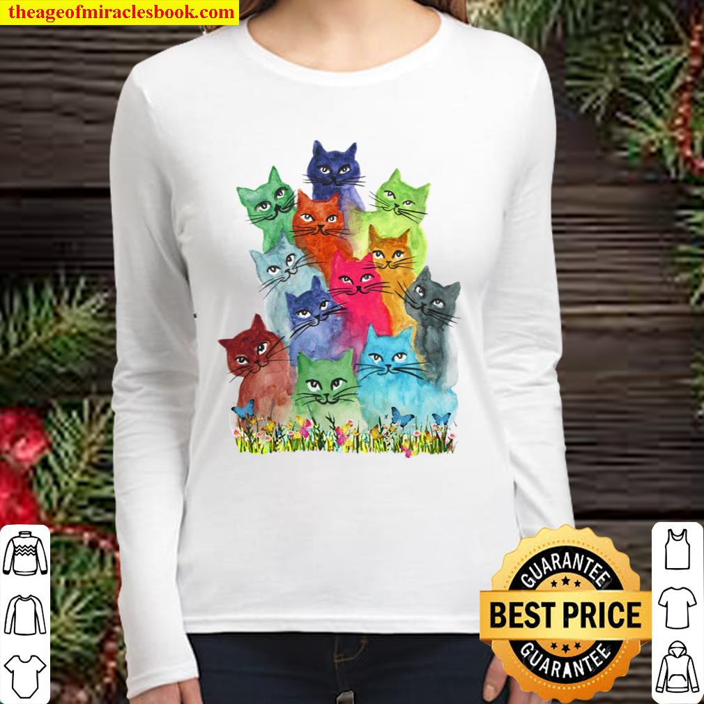 Cats Color Women Long Sleeved