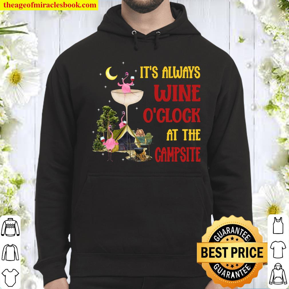 It's Always Wine O'clock At The Campsite Hoodie