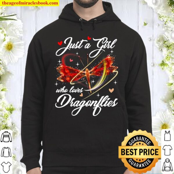 Just A Girl Who Loves Dragonflies Entomologist Hoodie