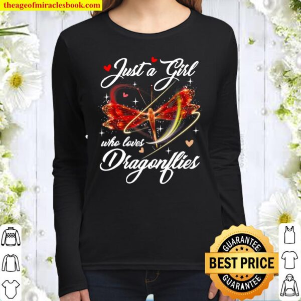 Just A Girl Who Loves Dragonflies Entomologist Women Long Sleeved