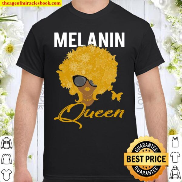 Melanin Queen For African American With Butterfly Hoodie