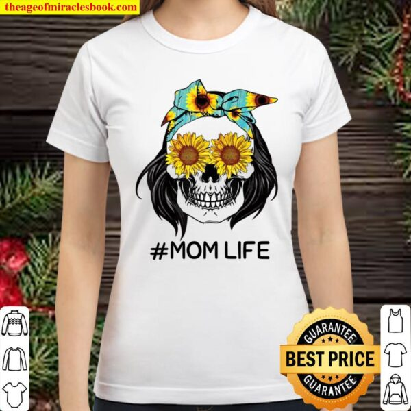 MomLife Jeans Pattern, Sunflower mother's Day Classic Women T-Shirt