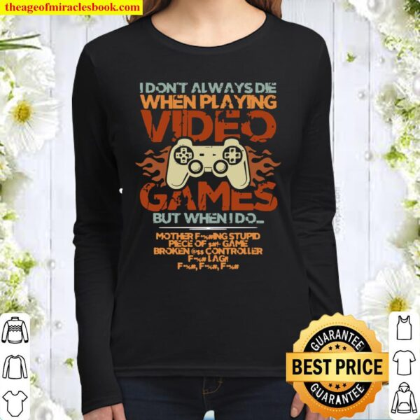 Playing Video Games Gamer Gaming Console Gamer Women Long Sleeved