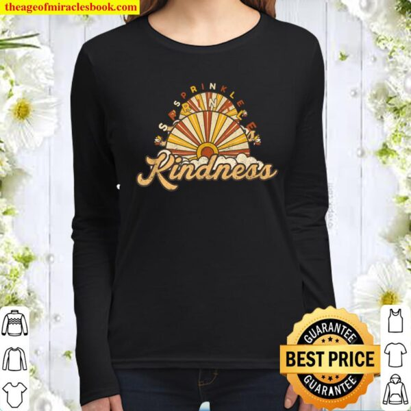 Sprinkle kindness be a nice kind person positive Women Long Sleeved