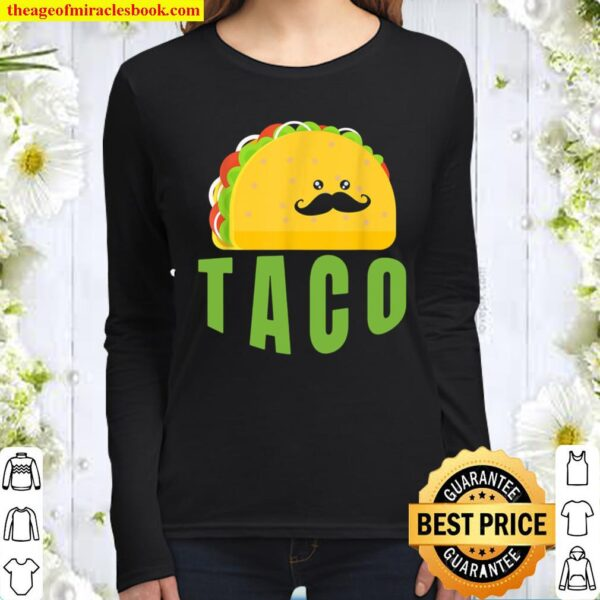 Taco, Illustrated Women Long Sleeved