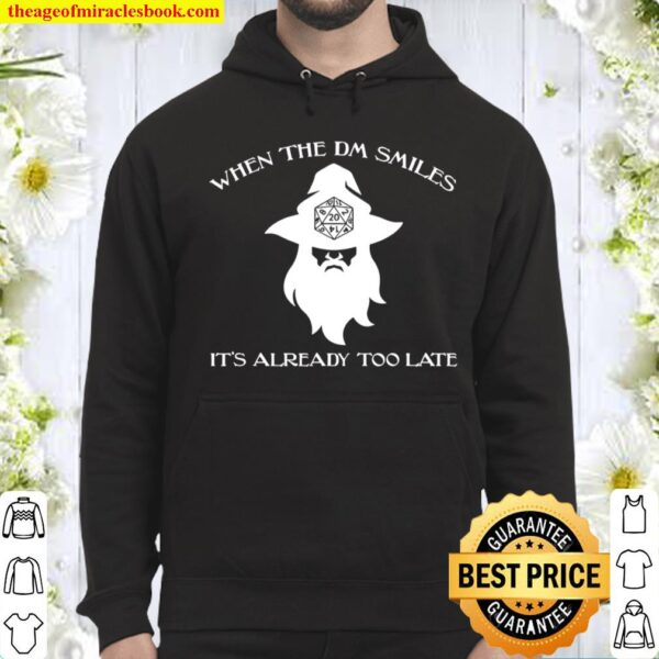 When The Dm Smiles Funny Dungeons Rpg Wizard Dice Dragons Hoodie