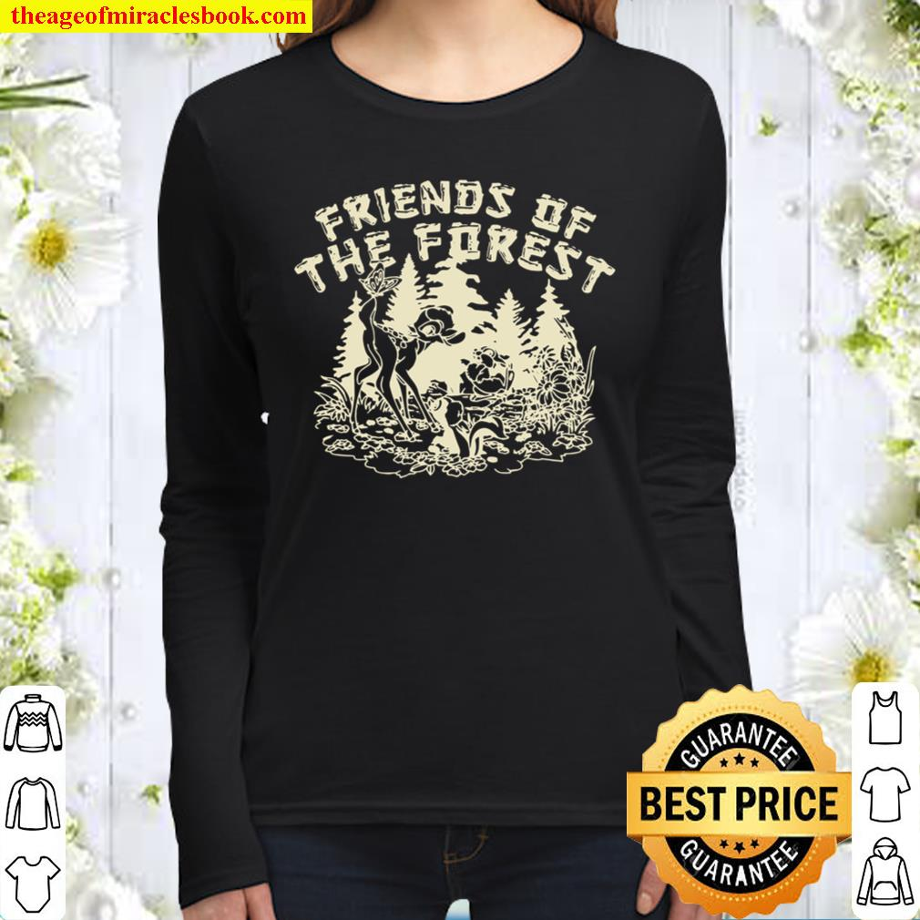 Bambi Friends Of The Forest Pullover Women Long Sleeved