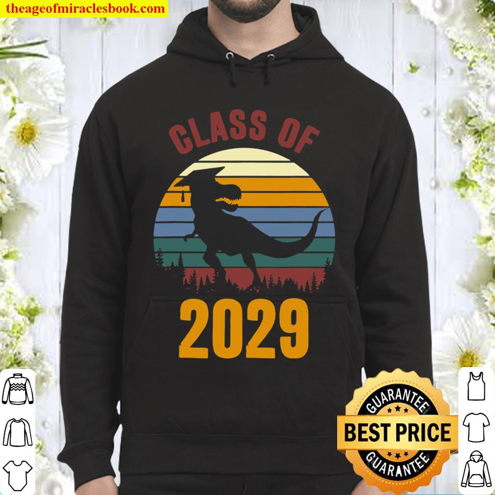 Dinosaur Class Of 2029 First Day Boys Kids Gift Hoodie