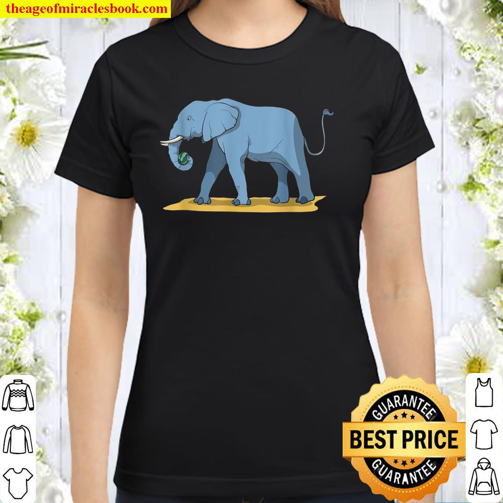 Elephant Holding Melon With Its Trunk Classic Women T-Shirt