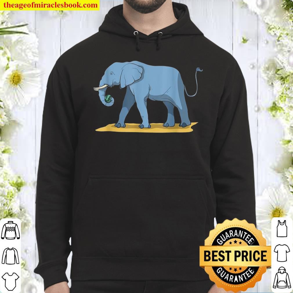 Elephant Holding Melon With Its Trunk Hoodie