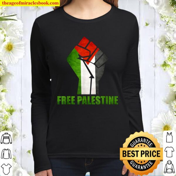 Free Palestine support Palestine and Arab Women Long Sleeved