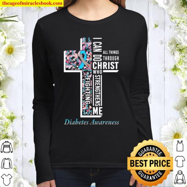 I Can Do All Things Through Christ Who Strengthens Me Black Women Long Sleeved