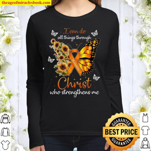 I Can Do All Things Through Christ Who Strengthens Me Women Long Sleeved