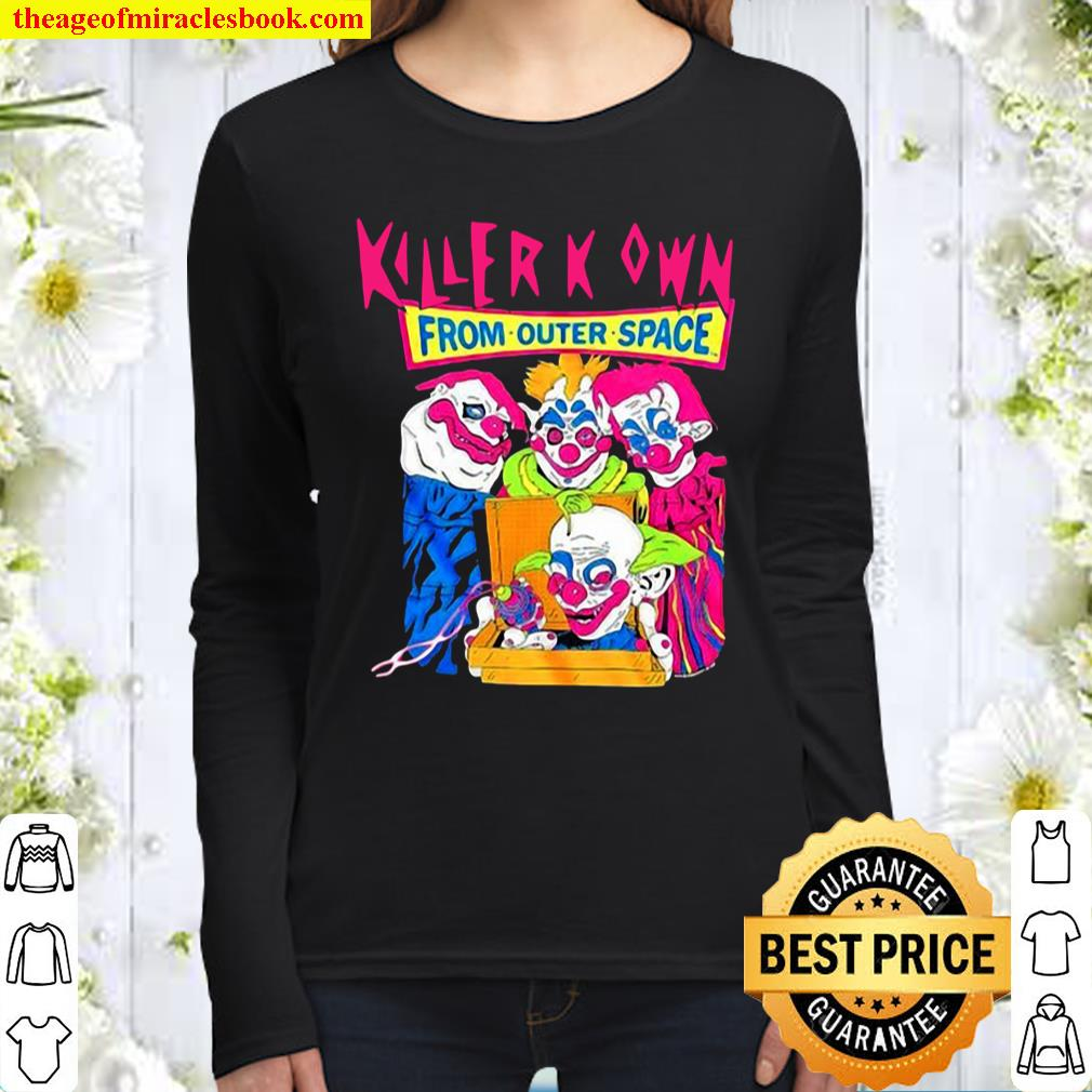 Killer Klowns From Outer Space Pizza Box Women Long Sleeved