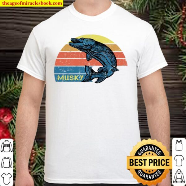 Retro Musky Fishing With A Vintage Musky Design Shirt