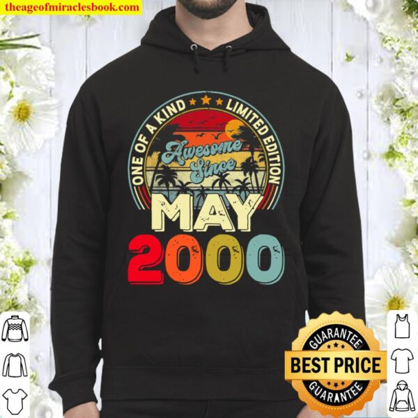 Vintage May 2000 21St Birthday Decorations Boy Girl Funny Hoodie