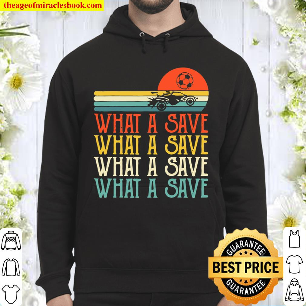 What A Save Chat Disabled Vintage Retro Rocket Soccer Game Hoodie