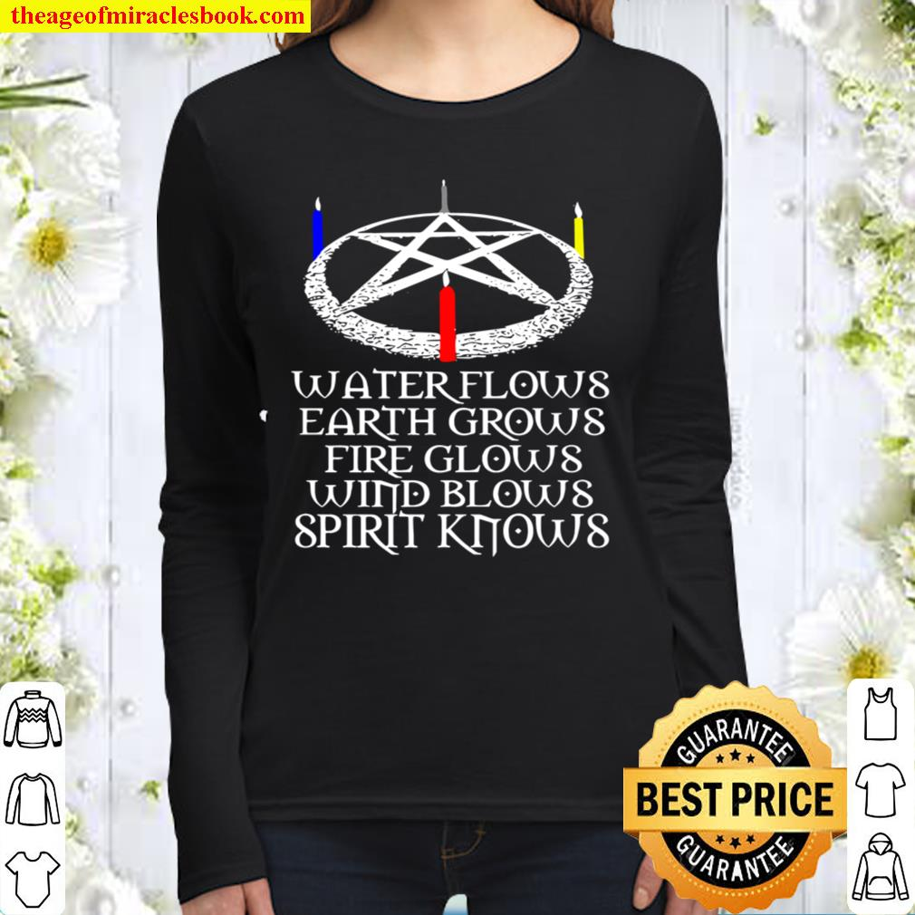 Wiccans Know Wiccan Protection Spell Wiccans Pagans Witches Premium Women Long Sleeved