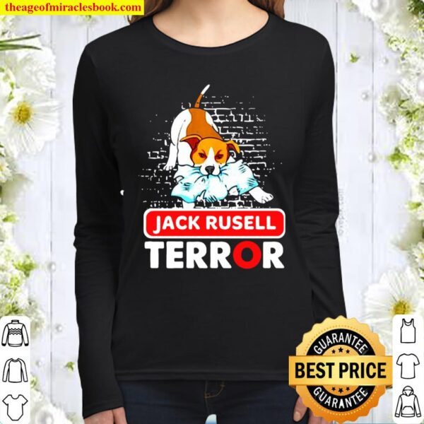 Womens Jack Russell Terror Bad Dogs Jack Russell Terrier Dog Women Long Sleeved