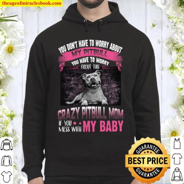 You Don't Have To Worry About My Pitbull You Have To Worry Crazy Pitbu Hoodie