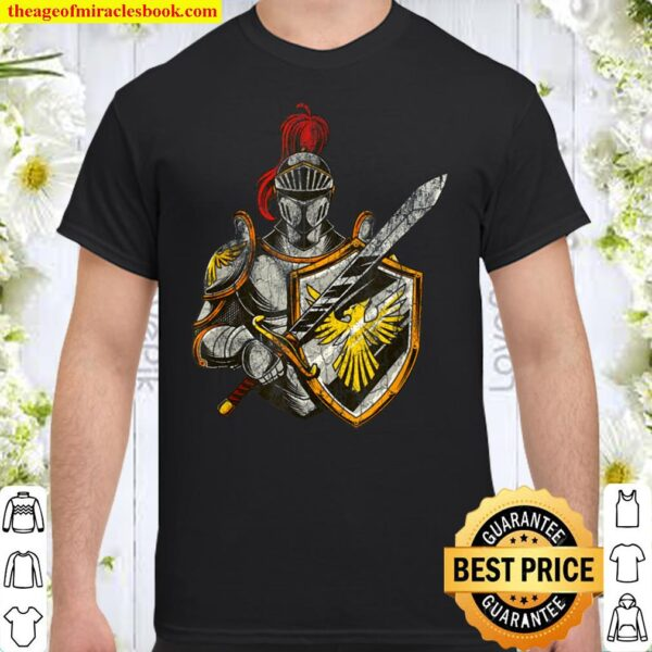 Distressed Knight Gothic Emo Middle Age - Urban Graphic Shirt