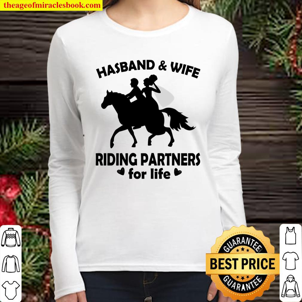 Hasband And Wife Riding Partners For Life Women Long Sleeved