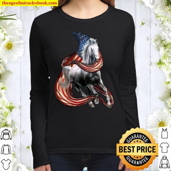 Horse cool and freedom horse lovers Women Long Sleeved