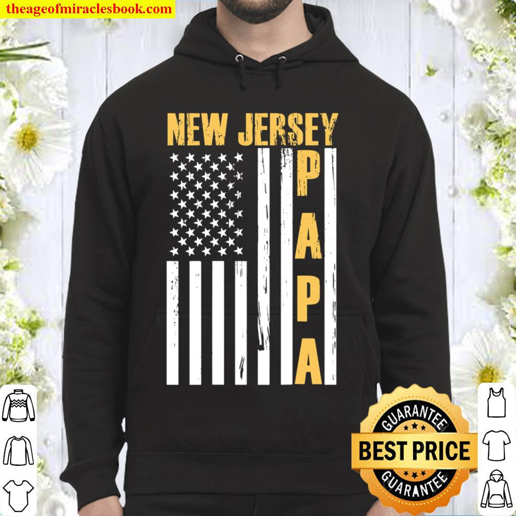 Mens New Jersey Proud Papa For Dad Grandpa - Father Day 2021 Hoodie