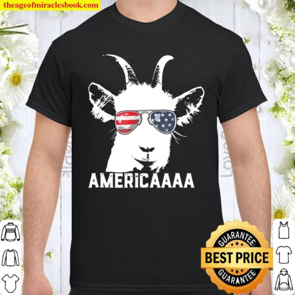 Patriotic Goat 4Th Of July Boys Funny Goat Americaaa Shirt