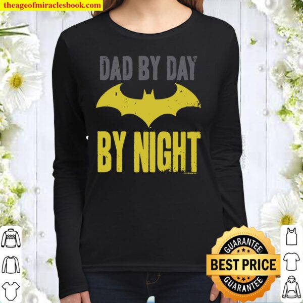 Popfunk Batman Dad by Day T Shirt for Father_s Day _ Stickers Women Long Sleeved