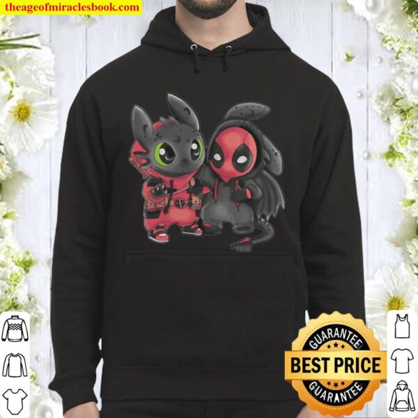 Toothless Wrong Stitch and Deadpool are friend Hoodie