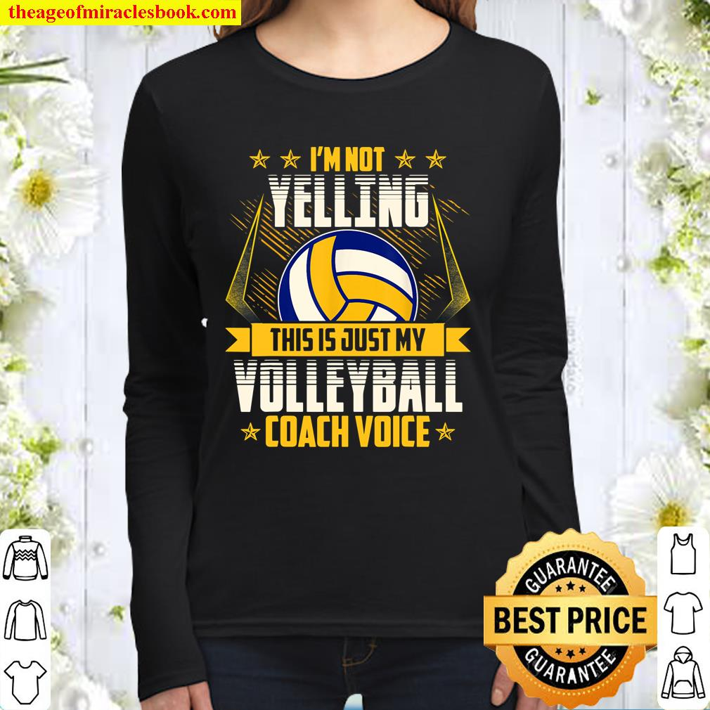 Volleyball Coach Voice Women Long Sleeved