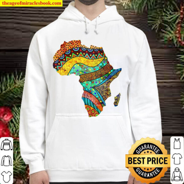 Africa Map In Traditional Ethnic African Pattern Art Hoodie