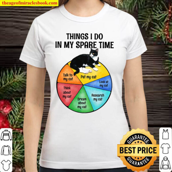 Cat Things i do in my spare time Grey Standard Classic Women T Shirt