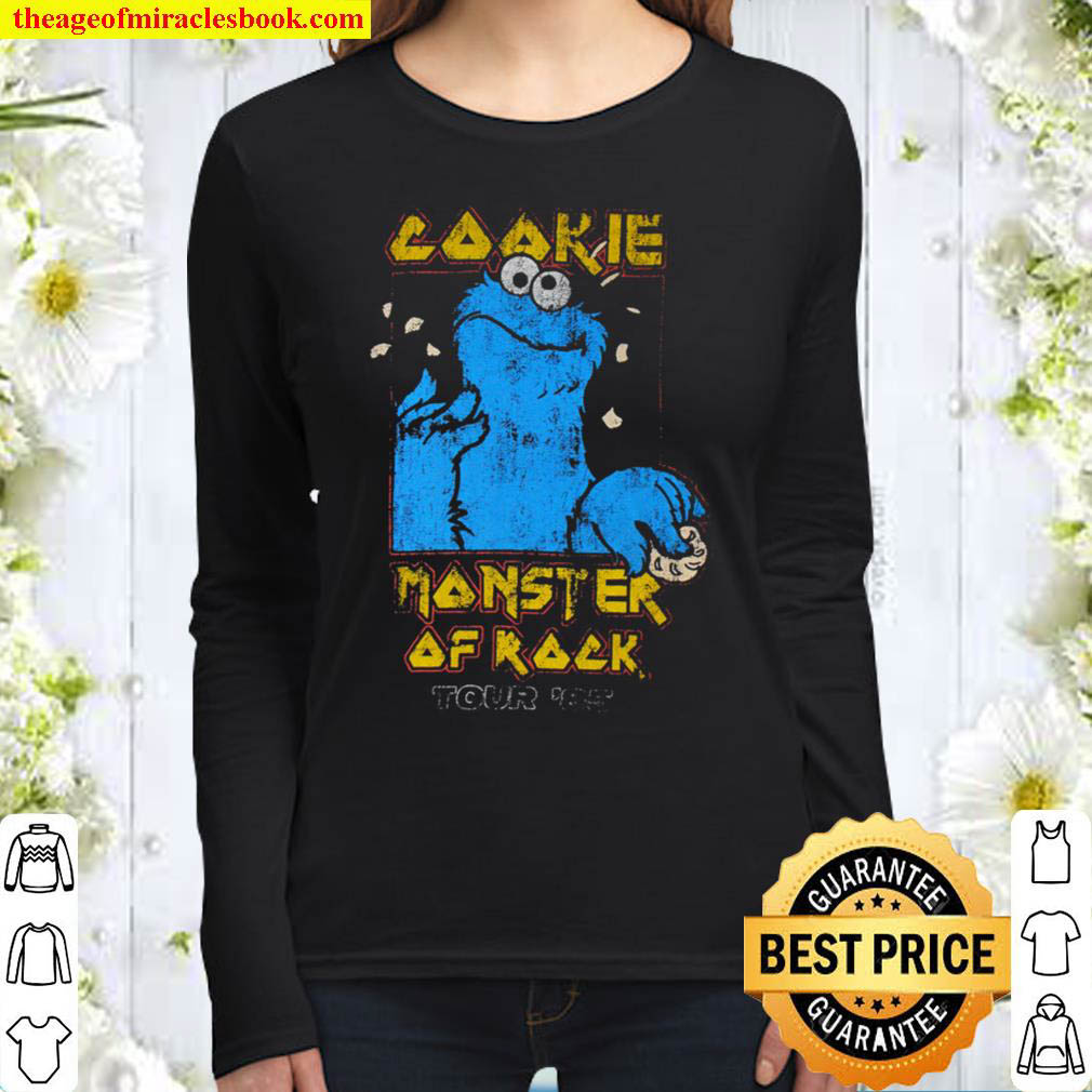 Cookie Monster Sezame Street Official Vintage Women Long Sleeved