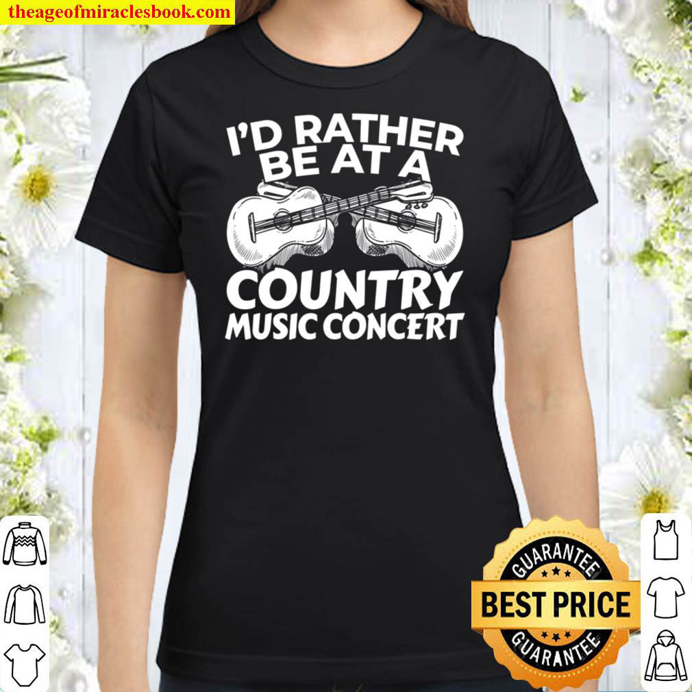 Country Music Lover Gift Music Concert Classic Women T Shirt