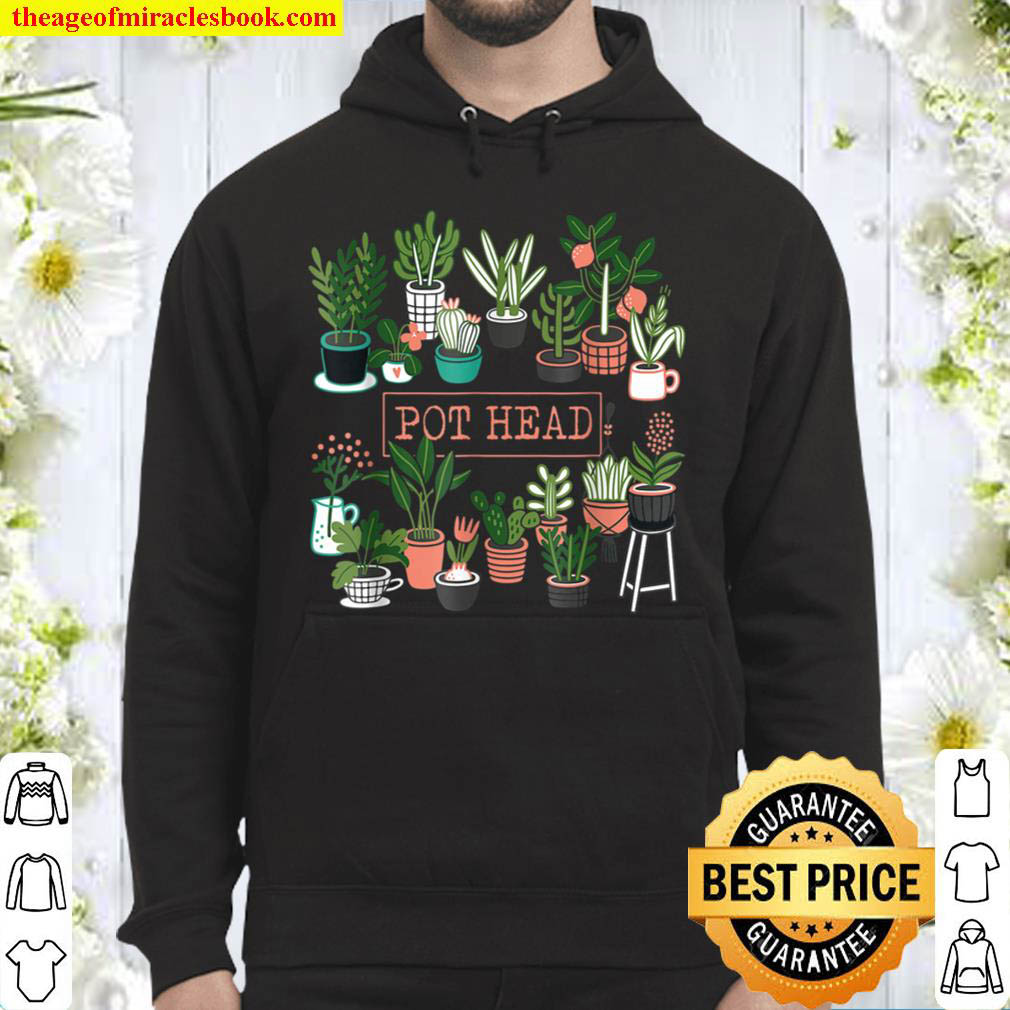 Gardening Pot Head Potted Plant Funny Famer Succulent Hoodie