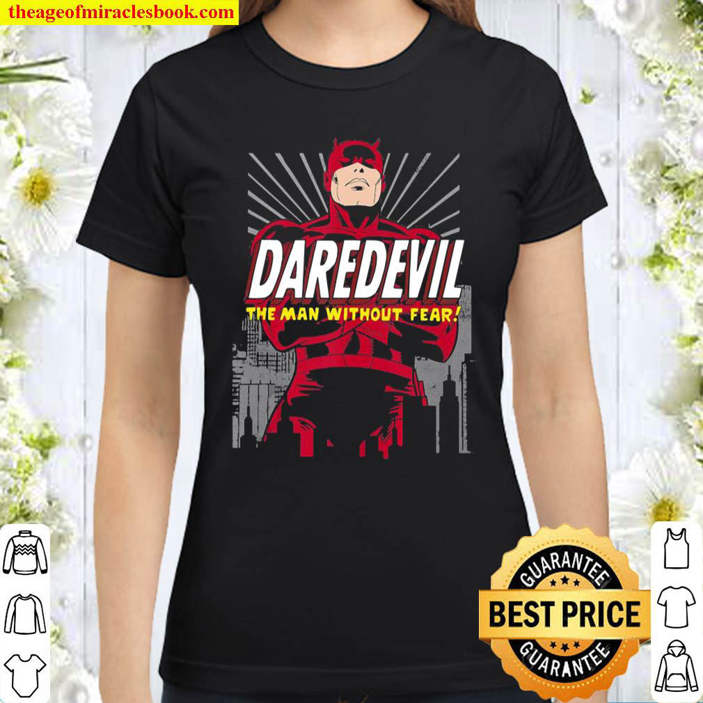 Marvel Daredevil The Man Without Fear Arms Crossed Portrait Classic Women T Shirt